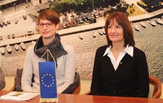 Jelena Kenđel i Marija Alfirev na konferenciji za novinare Centra za socijalnu inkluziju (Foto: Tris/H. Pavić)