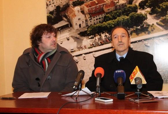 Slaven Lambaša i Draško Lambaša na konferenciji za novinare (Foto Tris/H. Pavić)