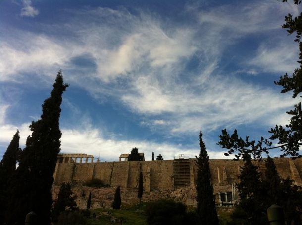 Akropola iza željezne ograde