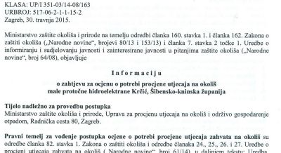 Krčić opet nema mira: hidroelektranu bi sada tvrtka Hydro Green vlasnika Saše Perkovića