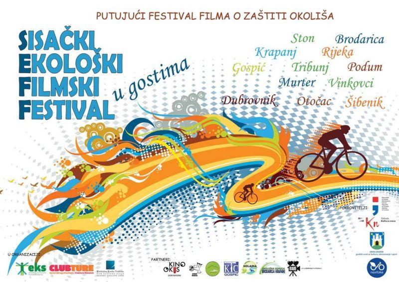 Sisački ekološki filmski festival – jedini  festival koji pedalira (putuje na biciklima)