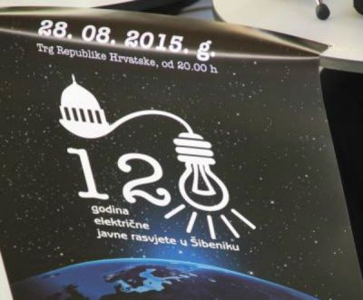Šibenik slavi struju: Laserska harfa u čast prve hidroelektrane