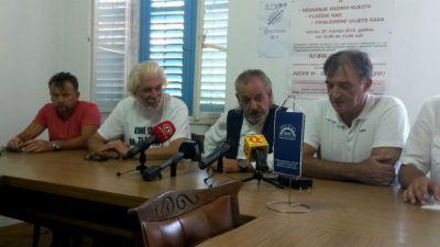 Predstavnici Sindikata metalaca Hrvatske na današnjoj tiskovnoj konferenciji