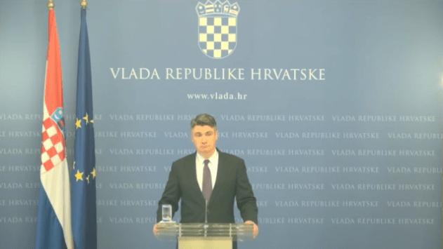 Zoran Milanović na izvanrednoj konferenciji  za novinare (Foto: Printscreen YouTube)
