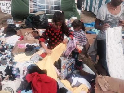 Izbjeglice su označili narukvicama (Foto: Twitter/HRT)