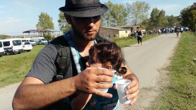 Izbjeglice (Foto Tweeter/HRT)