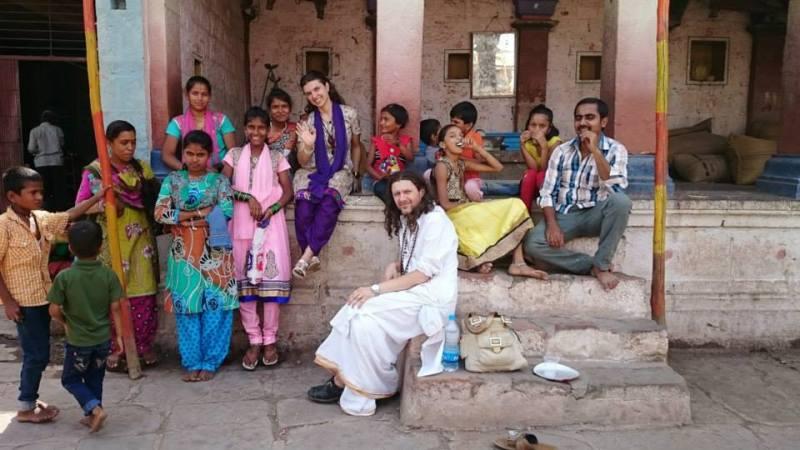 Swami Urgaya, dok je bio u Indiji