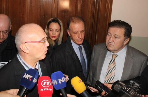 Odvjetnici Miljević, Baica i Došen nakon suđenja daju izjave (Foto: H. Pavić)