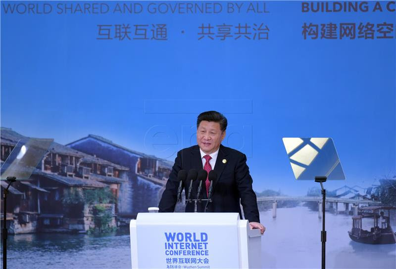 Xi Jiping na međunarodnoj konferenciji o internetu (foto Hina/EPA)