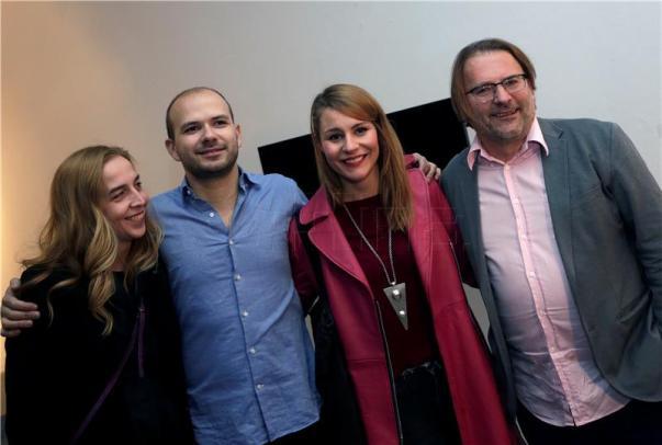 S press konferencije: s lijeva na desno: D. Turić, J. Pavlović, T. Lazović i H. Hribar  (foto HINA)