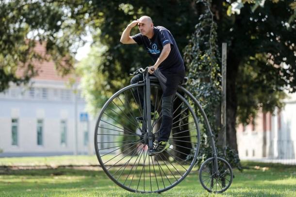 U Ludbregu na 'ludom' biciklu