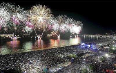 Nova godina na plaži Copacabana (foto Hina)