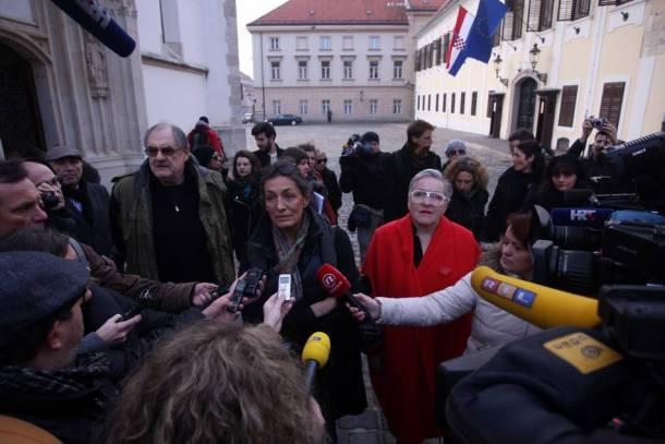 Zagreb, 02.02.2016 - Inicijativa Kulturnjaci2016 . foto HINA/ Daniel KASAP / dk