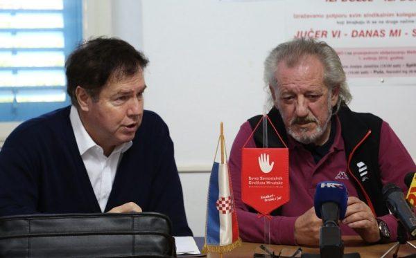 Pravni zastupnik SMH Vedran Uranija i predsjednik SMH Vedran Dragičević (Fotoo: Tris/H. Pavić)