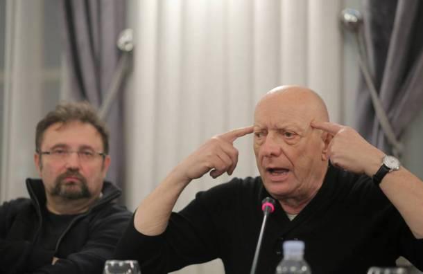 "Paolo Magelli i Zoran Ferić na  protestna tribini ""Zašto smo potpisali"". foto HINA/ Tomislav Pavlek"