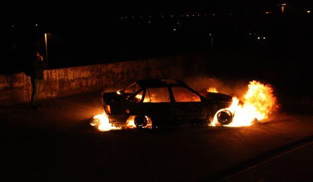 Dalibor Martinis zapalio automobil (foto Hina - Nikša