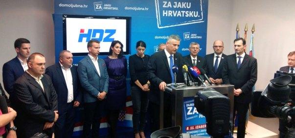 Sinoćnje obraćanje novog-starog predsjednika HDZ-a (Foto: HDZ)