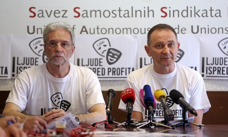 """Sindikati za 1. svibnja najavljuju prosvjed """"Ljude ispred profita"""""""