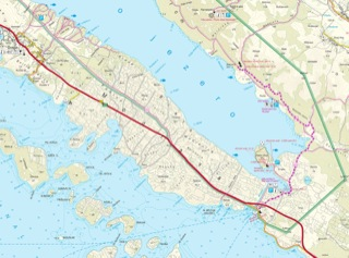 Karta Vransko jezero