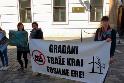 'Tražimo kraj fosilne ere – trajno odustanite od Plomina C i bušenja Jadrana!'