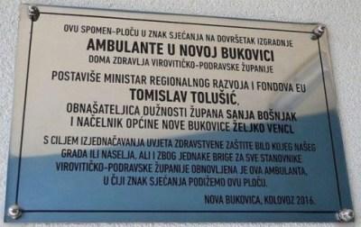Spomen-ploća (foto Facebook/Radio Slatina)
