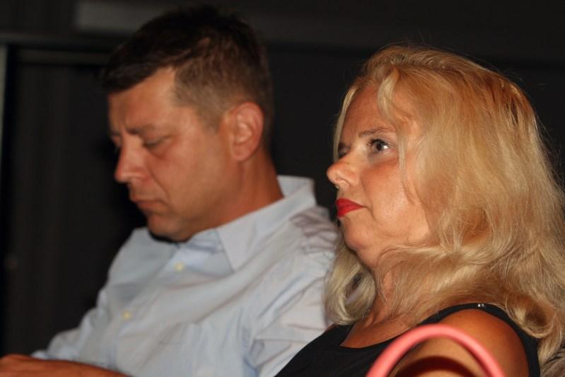 Političar Jasen Mesić i političarka Milana Vuković Runjić na sučeljavanju (foto HINA/Zvonimr Kuhtić)