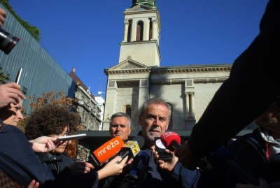 Milan Bandić danas na Cvjetnom trgu - foto Hina/ Tomislav Pavlek