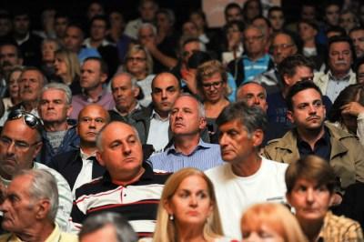 Javna rasprava o Prijedlogu izmjena i dopuna Generalnog urbanističkog plana (GUP) grada Splita održana je u Domu Hrvatske vojske. foto HINA / Mario STRMOTIĆ