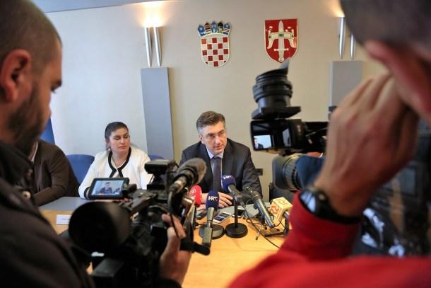 Ministrica Žalac i premijer Plenković u Šibeniku (Foto: Tris/H. Pavić)