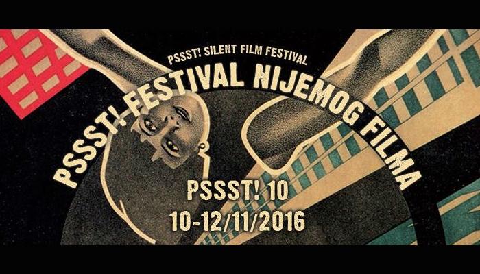 Počinje 10. izdanje PSSST! Festivala nijemog filma