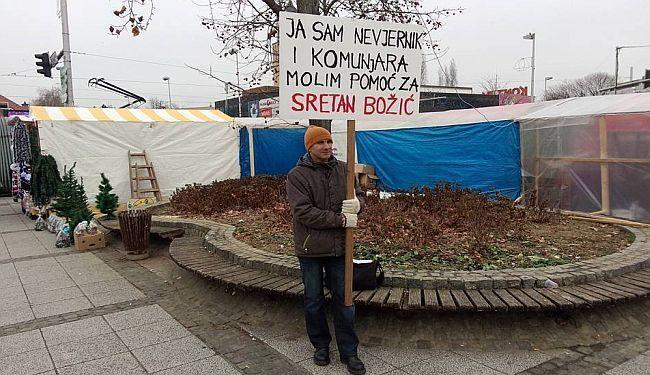 Siniša Labrović na Trešnjevci (foto Lupiga)
