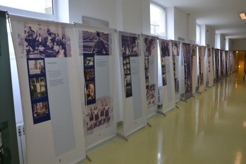 Detalj s već bivše izložbe o Anni Frank u Šibeniku
