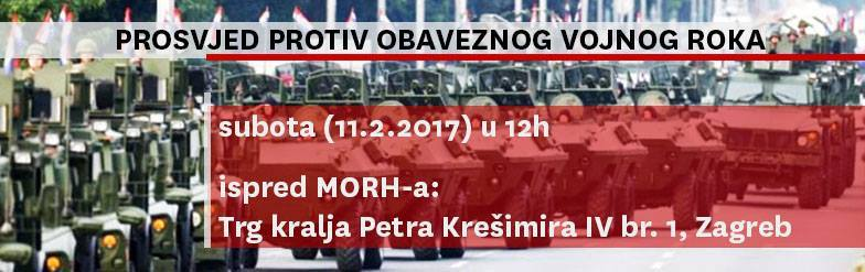 Radnička fronta: Policija nam ne dopušta prosvjed protiv obveznog vojnog roka ispred MORH-a