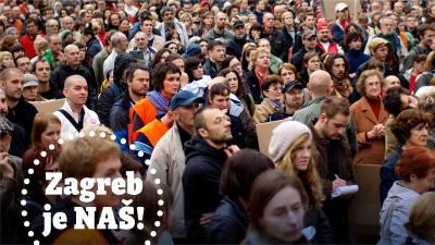 Zagreb je naš: Dosta vam je muljaža, prekopanih fontana, prikrivenih privatizacija?