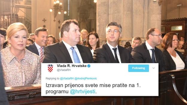 Crkva i država: Vlada RH službeno pozvala na praćenje prijenosa mise na televizorima