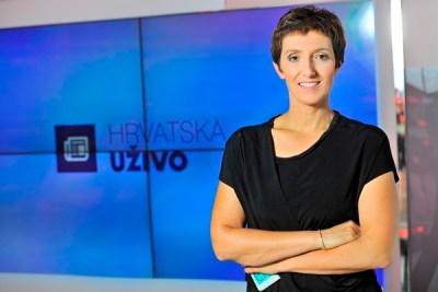 Maja Sever, jedna od voditeljica Hrvatske uživo (Foto HRT)
