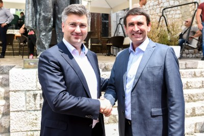 Plenković i Budalić (desno) foto: HDZ Imotski