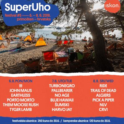 Objavljen raspored nastupa izvođača po danima 5. SuperUho Festivala