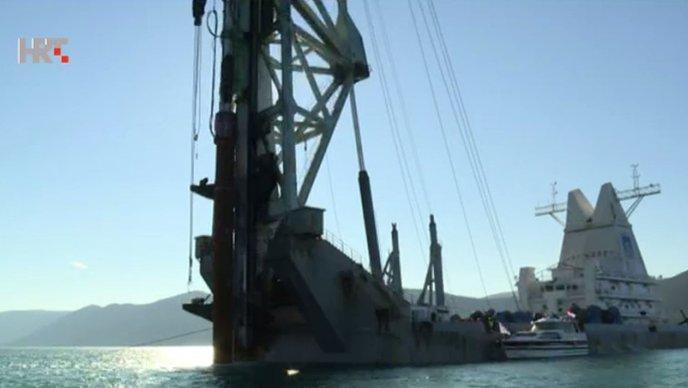 Kinesko-pelješki most: Radovi odgođeni radi jakog juga i valova