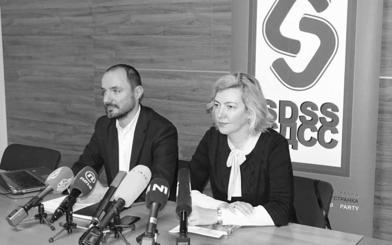 Čelnici SDSS-a Boris MIlošević i Dragana Jeckov (foto Novosti)