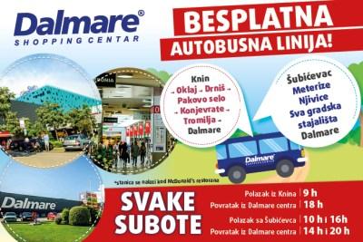 Dalmare: Besplatni autobusi iz Knina, Oklaja, Drniša, Pakova Sela, Tromilje i Šibenika