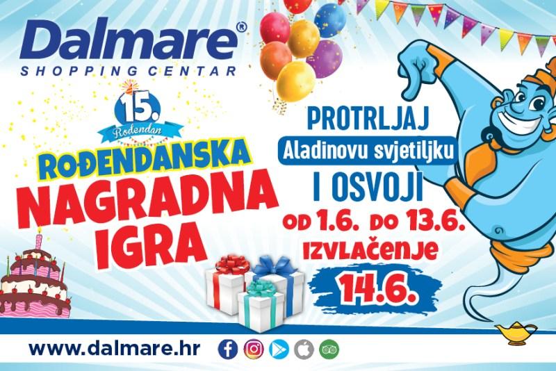 Velika nagradna igra povodom rođendana Dalmare centra