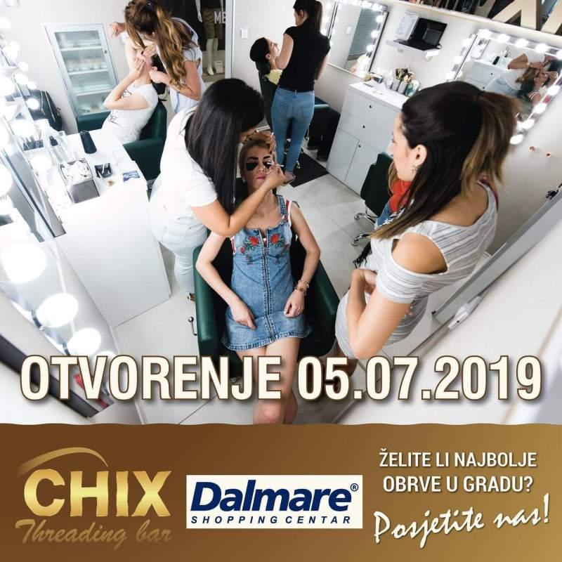 Chix threading bar otvara vrata u Dalmare centru uz 40% popusta na sve usluge