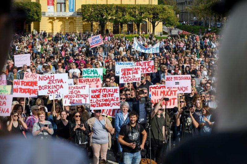 Prosvjed 'Pravda za djevojčice' u Zagrebu (foto: Facebook Zaklada Solidarna)