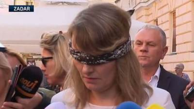 Marjana Šešelja Botićs povezom  (foto printscreen N1)