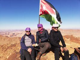 Točno na blagdan Sveta Tri Kralja na vrhu Jordana. Tome, Joso i Goran (foto: Joso Gracin Joka/Nina Živković)