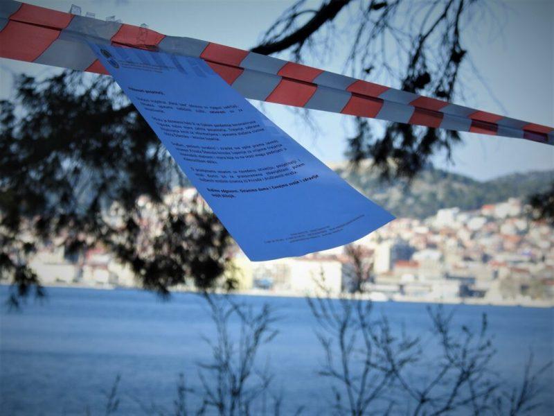 Obavijest o 'zatvaranju krajolka' (foto TRIS)