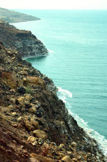 Bezživotna istočna obala Mrtvog mora(foto J. Gracin)
