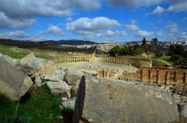 Pogled na rimski forum- Gerasa(foto J. Gracin)