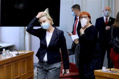 02.09.2020., Zagreb -  Sandra Benčić i Rada Borić u Hrvatskom saboru, Rada Boric Photo: Patrik Macek/PIXSELL